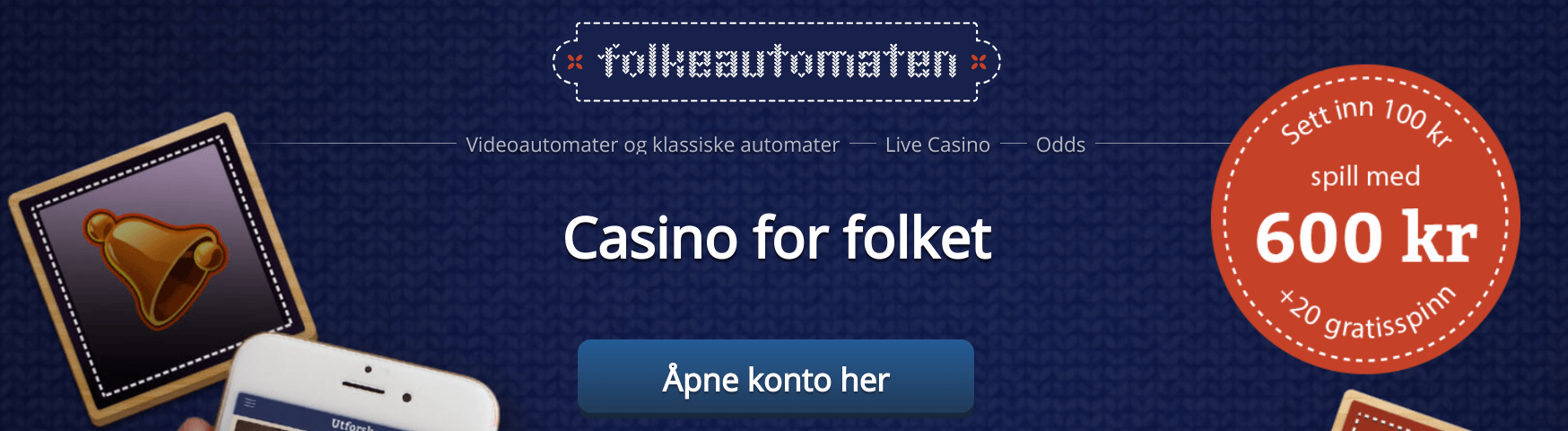 Folkeautomaten bonus for casino